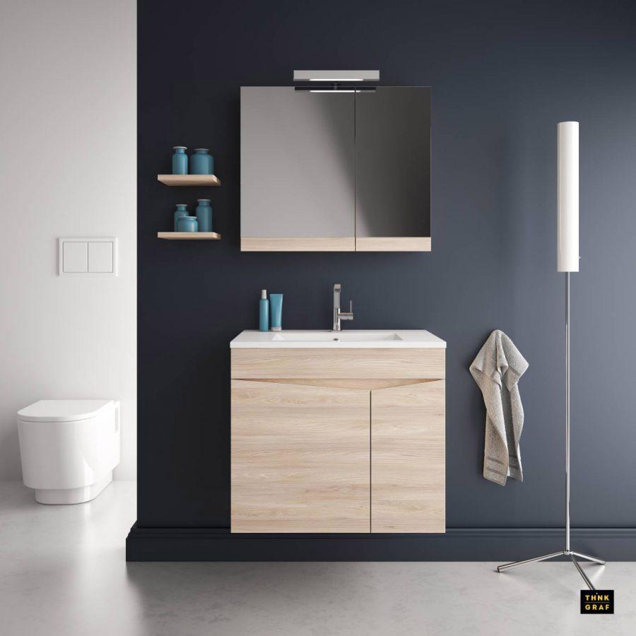 Αλιφραγκής έπιπλα μπάνιου τρισδιάστατος σχεδιασμός & φωτορεαλισμός