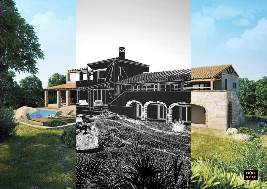 Εξοχική κατοικία τρισδιάστατος σχεδιασμός & φωτορεαλισμός
