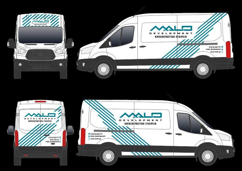 MALO Development Construction graphic design