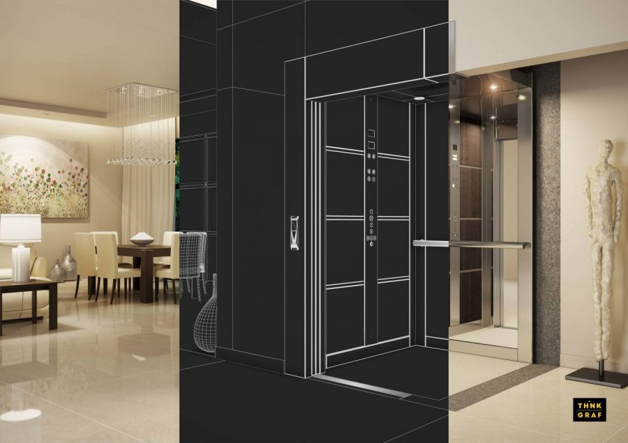 Pappas elevators 3D design & visualisation
