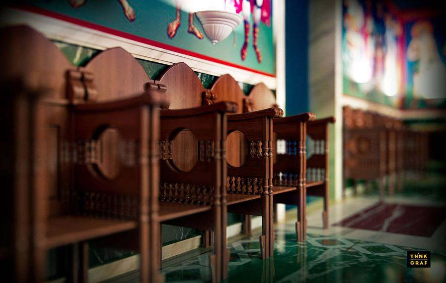 Χριστιανική ορθόδοξη εκκλησία τρισδιάστατος σχεδιασμός & φωτορεαλισμός